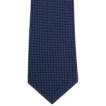 Michelsons of London Geo Design Silk Tie - Navy/Black
