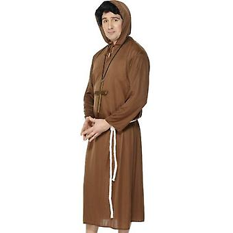 Smiffys Monk Costume Brown With Hooded Robe & Belt (Costumes)