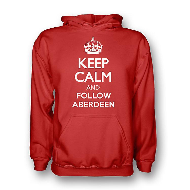 Keep Calm And Follow Aberdeen Hoody (red) - Kids