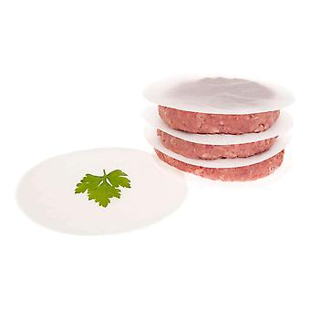 Savisto 11.5cm Non-Stick Wax Coated Paper Burger Discs (Pack of 100)