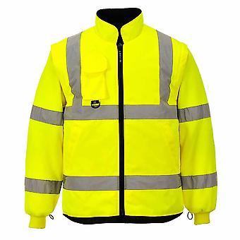 sUw - Hi-Vis Sicherheit Arbeitskleidung 7-in1-Verkehr Workwear Jacke