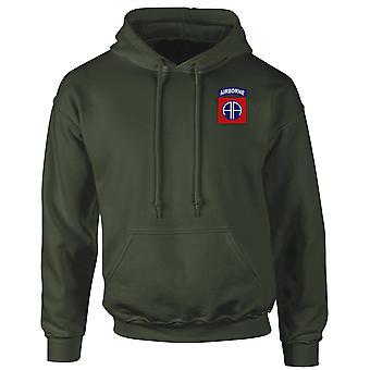 US Army 82nd Airborne Division broderad Logo - Hoodie