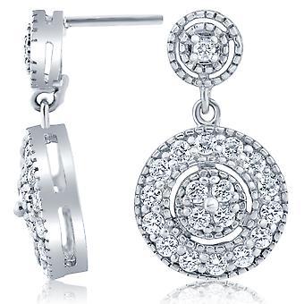 1 / 2ct Diamond Dangle Oorbellen 10K witgoud