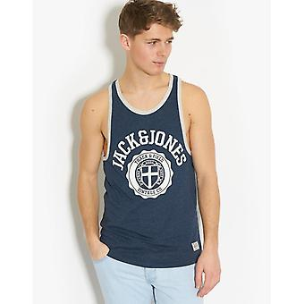 Jack and Jones Athletic Tee Navy Blue T-Shirt