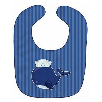 Carolines Treasures  BB8884BIB Nautical Whale Blue Baby Bib