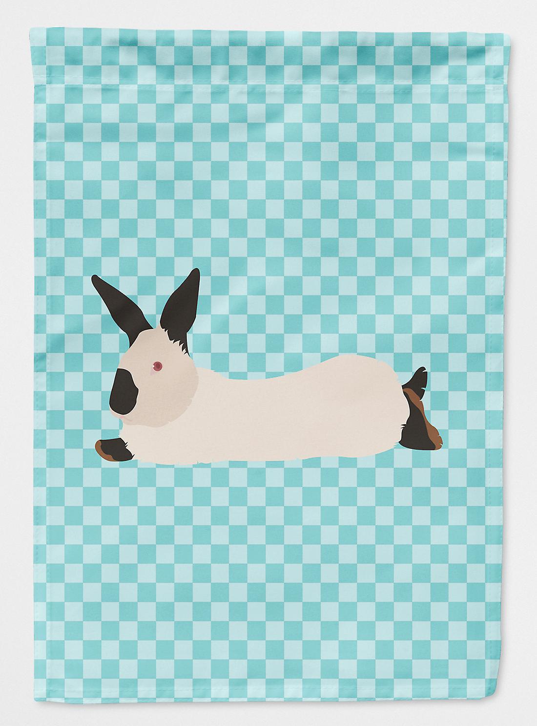 Californie lapin blanc Check bleu drapeau Taille maison du canevas