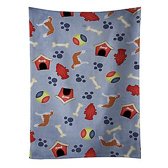 Borzoi Russian Greyhound Dog House Collection Kitchen Towel
