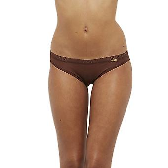 Gossard 6273- Women's Glossies Rich Brown Sheer Knickers Panty Brief