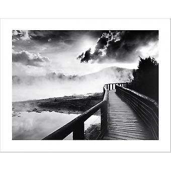 Walkway Over the Lake Poster Poster Print