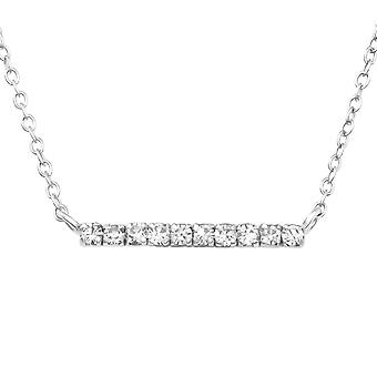 Bar - 925 Sterling Silver Jewelled Necklaces