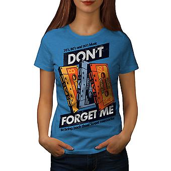 Don't Forget Me Vintage Women Royal BlueT-shirt | Wellcoda