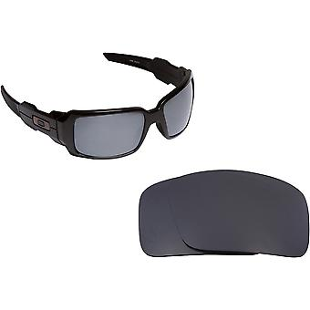 Best SEEK Polarized Replacement Lenses for Oakley OIL DRUM Silver Mirror