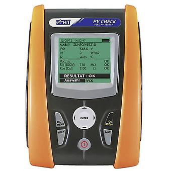 Electrical tester HT Instruments PV-CHECKs Calibrated to ISO standards