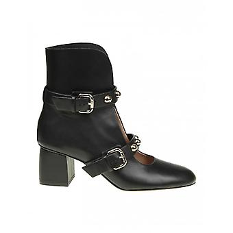 Red Valentino women's PQ2S0A230NOAYV black leather ankle boots