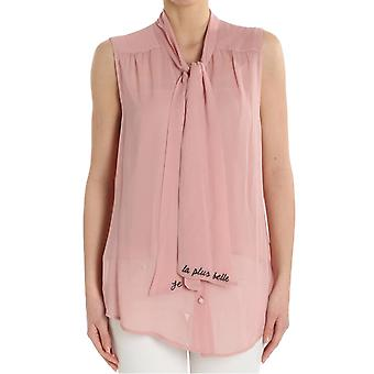 Ottod'ame ladies UMODT86531526 Rosa viscose top