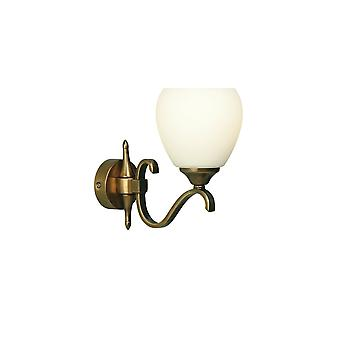 Interiors 1900 63453 Columbia 1 Light Wall Fitting In Antique Brass Fi