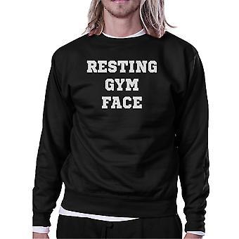 RGF Unisex Black Crewneck Sweatshirt Cute Workout Pullover Gym Gift