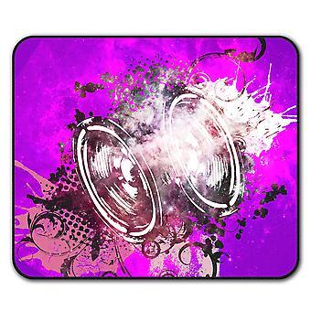 Subwoofer Bass  Non-Slip Mouse Mat Pad 24cm x 20cm | Wellcoda