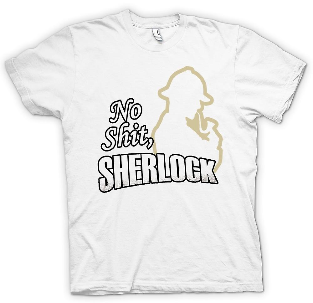 Womens T-shirt - No Shit Sherlock - Quote