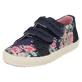 Girls Startrite Casual Canvas Shoes Edith 2 - Navy Canvas - UK Size 11.5F - EU Size 30 - US Size 12.5