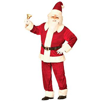 Super Deluxe Santa Suit Velvet (Jacket Pants Hat Belt)