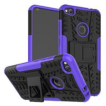 Hybrydowy przypadek 2 kawałek SWL odkryty fioletowy dla ochrony obudowy torba Huawei P8 Lite 2017