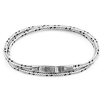 Anchor and Crew Liverpool Silver and Rope Bracelet - Grey Dash