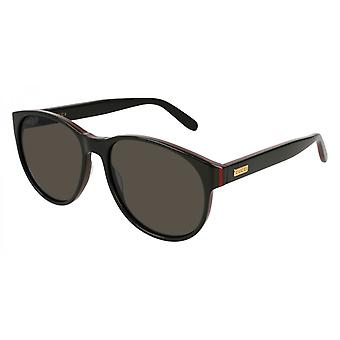 Gucci Black Red Stripe Ladies Sunglasses - GG0271S-001