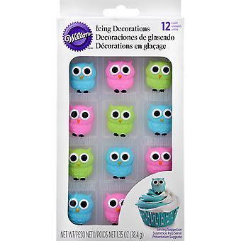 Royal Icing Decorations 12/Pkg-Owls