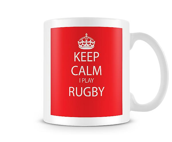 Keep Calm I Do Rugby Gedrukte Mok
