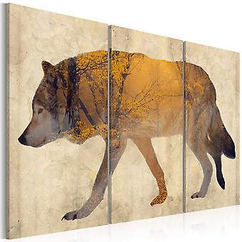 Canvas Print - The Wandering Wolf