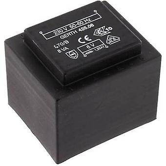 PCB mount transformer 1 x 230 V 2 x 7.50 V AC 8 VA 533 mA