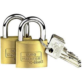 Burg Wächter 2er angi Quadro 222 40 SB hengelås messing nøkkelen