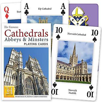 الكاتدرائيات في إنكلترا & ويلز مجموعة من أوراق اللعب 52 (+ النكاتون)