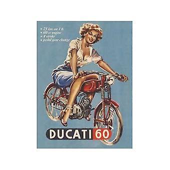 Ducati 60 metalen Fridge Magnet