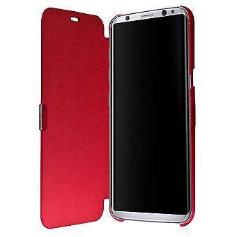 Flip Cover Schutzhülle Case Handyhülle Bookstyle für Samsung Galaxy S8+ Rot