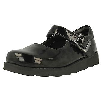 Girls Clarks Air Spring Casual Shoes Crown Honor