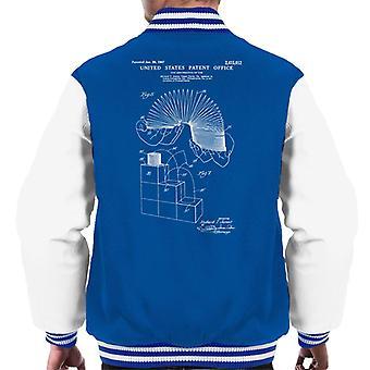 Slinky Patent Blueprint Men's Varsity Jacket
