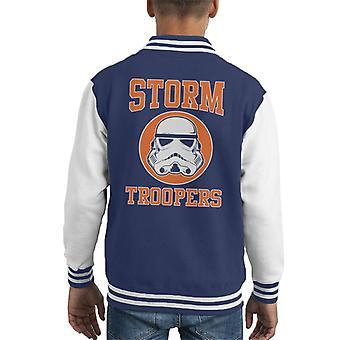 Opprinnelige Stormtrooper Orange College tekst barneklubb Varsity jakke