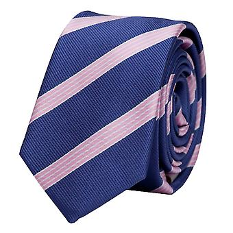 Schlips Krawatte Krawatten Binder 6cm lila rosa weiß gestreift Fabio Farini