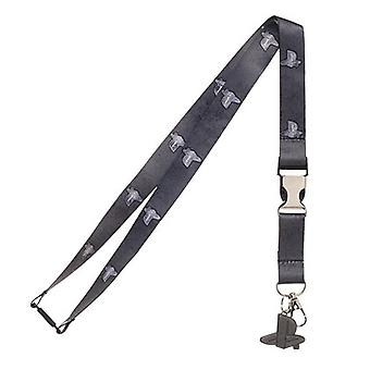 Playstation Lanyard With Breakaway Buckle and Charm