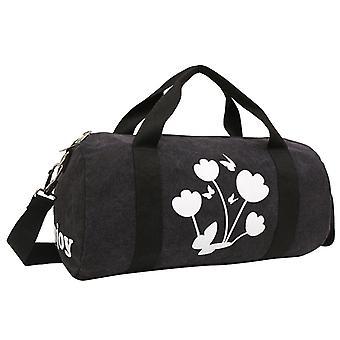 Black-Weekender bag or Holdall of durable fabric