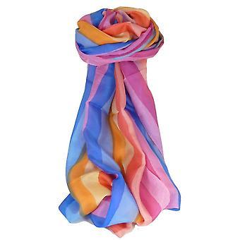 Mora seda bufanda larga clásica paleta de arco iris Deo por Pashmina y seda