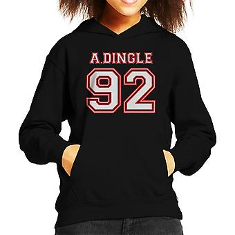 A Dingle 92 Emmerdale Sports Number Kid's Hooded Sweatshirt