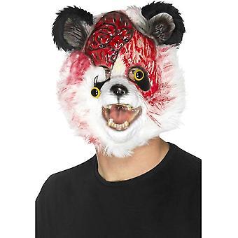 僵尸熊猫面具, 黑色和白色, EVA, 与毛皮