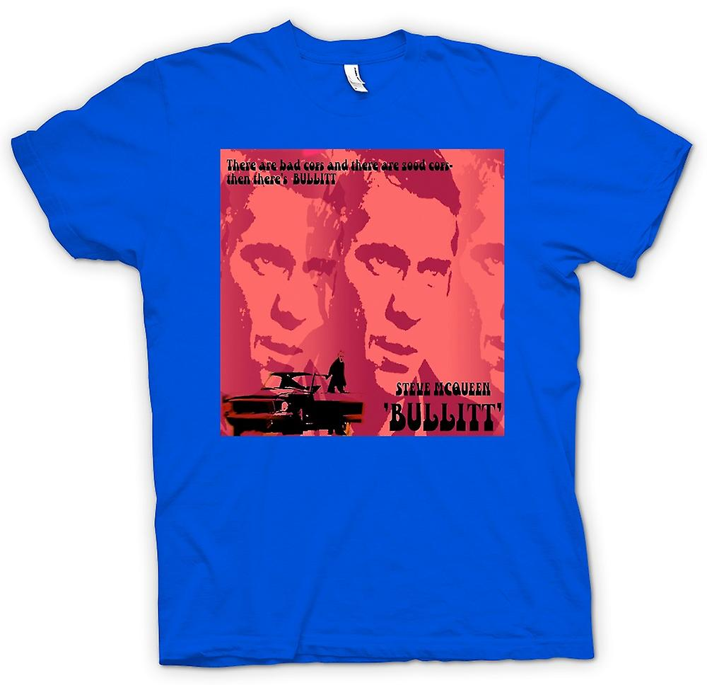 Mens T-shirt - Steve McQueen Bullit Good Cop