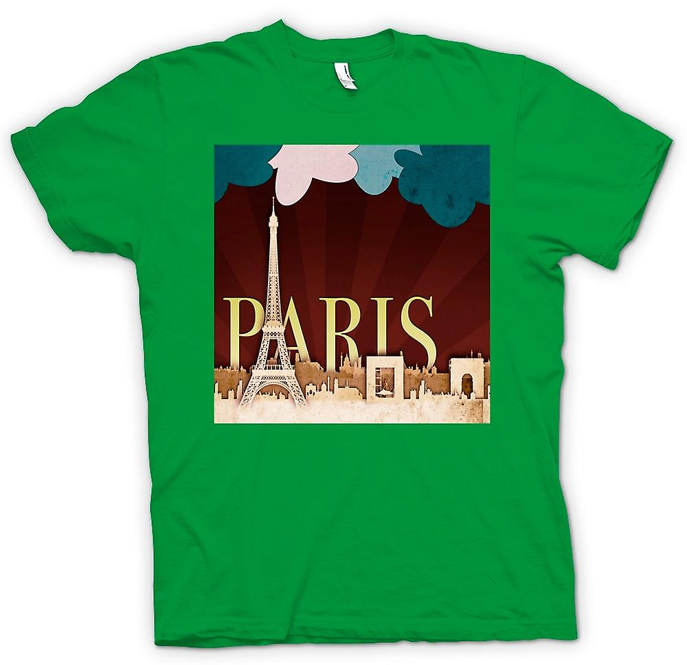 Hommes T-shirt - Cool Affiche Retro Paris