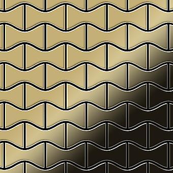 Mosaico de metal sólido Titanio ALLOY Kismet-Ti-GM