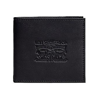 Levis Black Vintage Two Horse Coin Leather Bifold Wallet