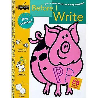 Innan jag skriver (förskola) (steg framåt gyllene böcker arbetsbok)